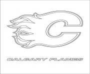 calgary flames logo lnh nhl hockey sport dessin à colorier