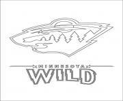 minnesota wild logo lnh nhl hockey sport dessin à colorier