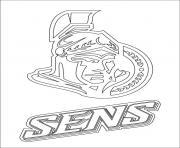 ottawa senators logo lnh nhl hockey sport dessin à colorier