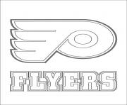 philadelphia flyers logo lnh nhl hockey sport dessin à colorier