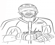 Coloriage alex ovechkin lnh nhl hockey sport