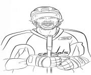 alex ovechkin lnh nhl hockey sport dessin à colorier