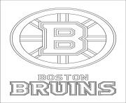 boston bruins logo lnh nhl hockey sport dessin à colorier