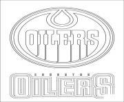 edmonton oilers logo lnh nhl hockey sport dessin à colorier