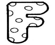 alphabet maternelle f dessin à colorier