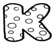 alphabet maternelle k dessin à colorier