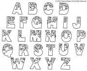 alphabet complet a imprimer dessin à colorier