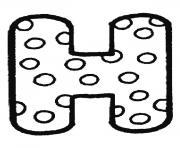alphabet maternelle h dessin à colorier