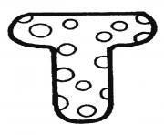 alphabet maternelle t dessin à colorier