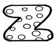 alphabet maternelle z dessin à colorier