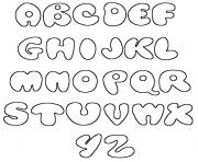 Coloriage alphabet maternelles cp complet simple