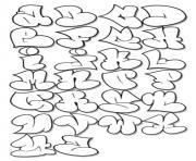 rigolo alphabet bubble letters dessin à colorier
