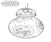 Coloriage BB 8 star wars 7
