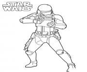 Coloriage Strormtrooper star wars 7