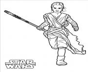 Coloriage rey star wars 7