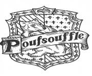 blason de Poufsouffle Harry Potter dessin à colorier