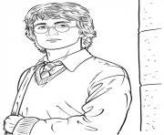 harry potter dans la cours dessin à colorier