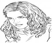 Coloriage hermione harry potter
