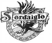 Coloriage blason de Serdaigle Harry Potter