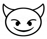 ... emoji iphone ios coloriage diable emoji coloriage flashed emoji