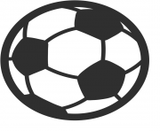 Coloriage soccer football emoji
