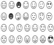 Coloriage sourire emoji emoticon dessin