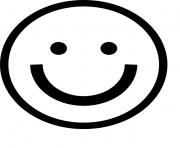 sourire emoji 3 dessin à colorier