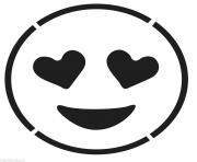 Laughing Face Emoji Black And White Smiling Face With Hear dessin à colorier