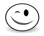 Winky Face Emoji dessin à colorier