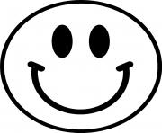 Coloriage smiley emoticone original