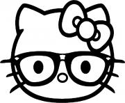 Coloriage hello kitty emoji
