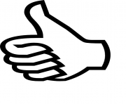 Thumbs Up emoji dessin à colorier