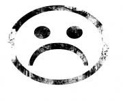 triste emoji dessin à colorier