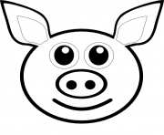 pig emoji dessin à colorier