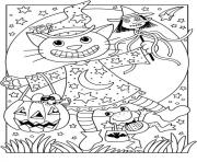 Coloriage chat halloween enfant