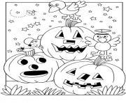 citrouille halloween gratuit dessin à colorier