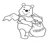 Coloriage winnie the pooh halloween