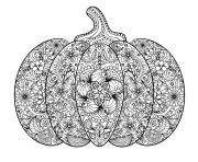 Coloriage halloween citrouille adulte