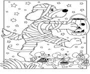 Coloriage halloween enfant