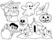 halloween enfants facile dessin à colorier