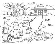 halloween sorciere dessin à colorier