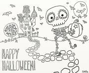 joyeux halloween dessin à colorier