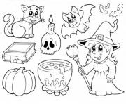 Coloriage halloween enfants simple