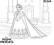Coloriage princesse elsa reine des neiges