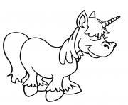 licorne dessin mignon 47 dessin à colorier