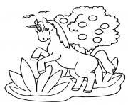 licorne ailes tete mignon 146 dessin à colorier