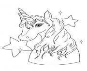 licorne kawaii 23 dessin à colorier