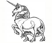 licorne dessin à colorier