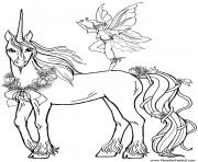 licorne kawaii 29 dessin à colorier