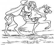 cheval princesse 88 dessin à colorier